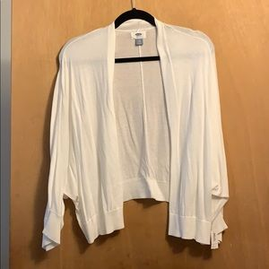 Old Navy White Cardigan XXL NWT
